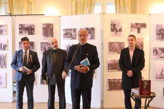 """27.03.2018 - Lansare de carte: """"Nicolae Titulescu Romania's Foreign Policy"""" De la stânga la dreapta: Titus CORLĂȚEAN, Dumitru PREDA, Adrian NĂSTASE, Flaviu PREDESCU"""